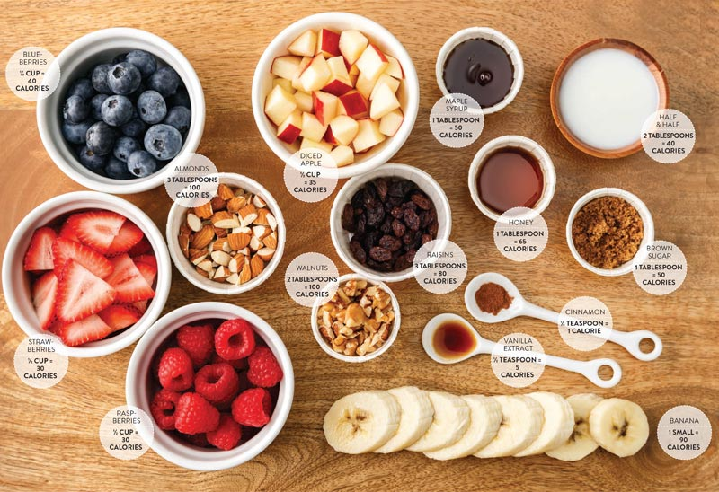 Perfect Portion Oatmeal Toppings