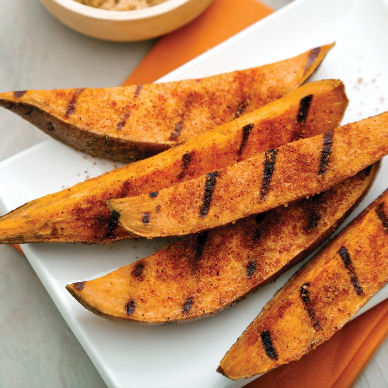 Grilled Sweet Potato Wedges – The Perfect Portion