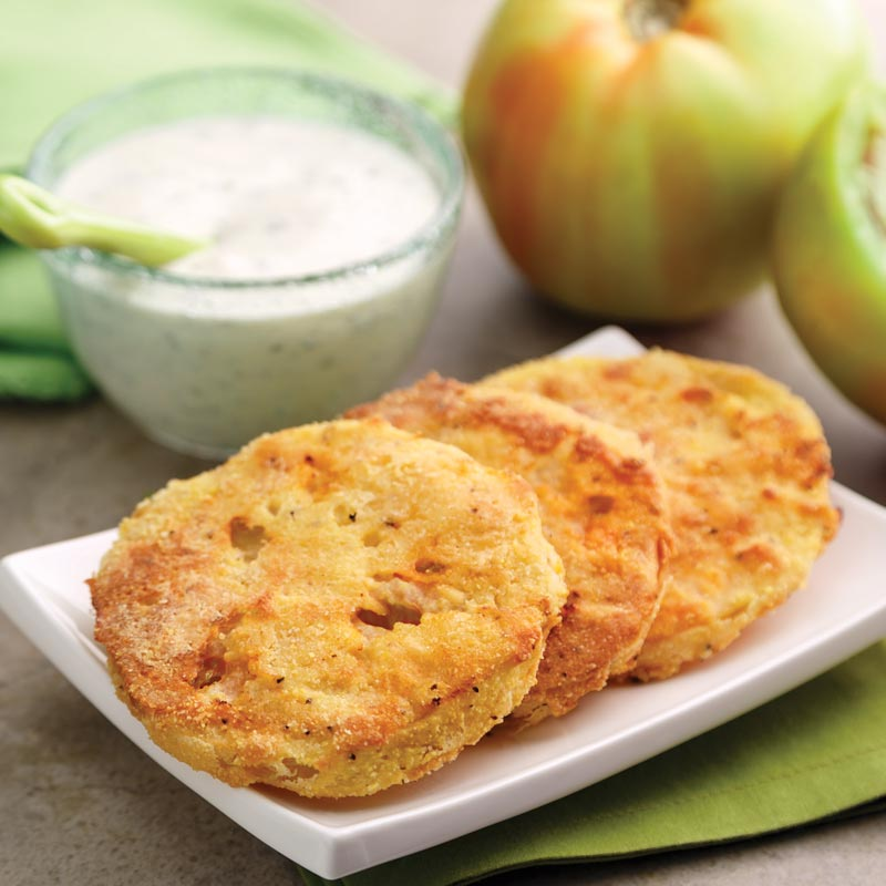 Perfect Portion Oven-Fried Green Tomatoes