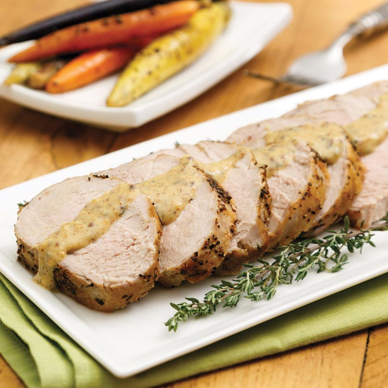 Pork Tenderloin with Dijon Gravy View Larger
