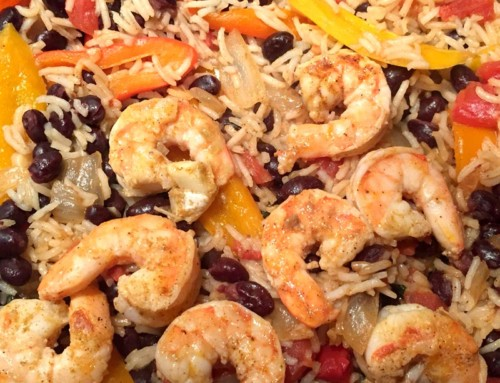 Tex Mex Shrimp and Rice Bowl